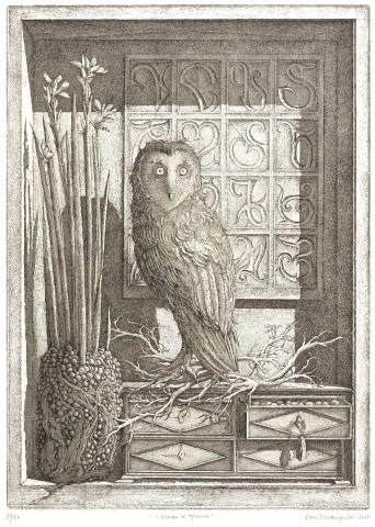 Érik Desmazières, L'Oiseau de Minerve, 2015