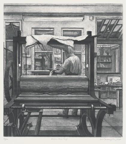René dans son atelier