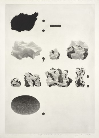 Joerg Ortner, ... Mes Doigts s'écoulaient dans la pierre ..., 1973-74