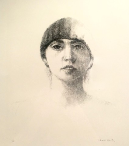 Portret van de vrouw van de kunstenaar, Niovy Chiotakis (Portrait de la femme de l'artiste, Niovy Chiotakis)