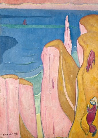 Emile BERNARD  Les Falaises d'Yport, 1892