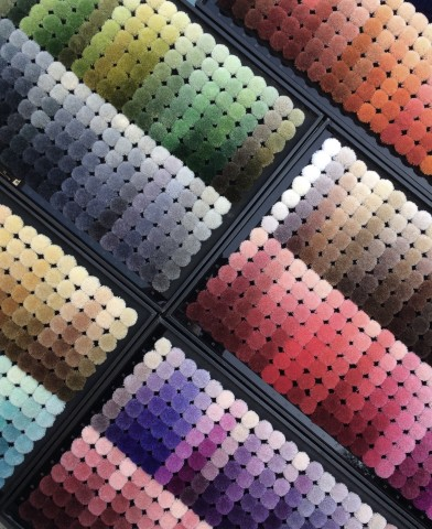 Sample colour tufts