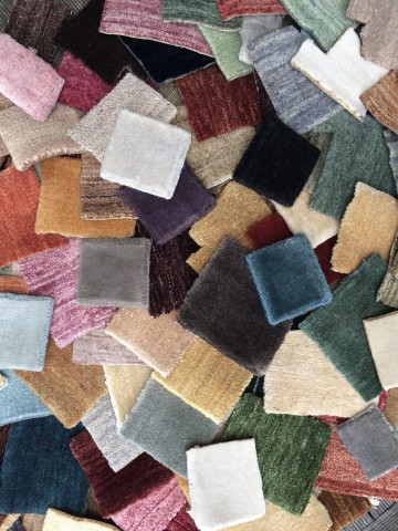 Woven colour samples