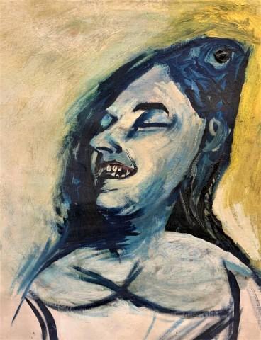 Graham Sutherland, Laughing Woman/Weeping Magdalene, 1952
