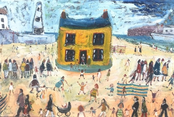 The Yellow House on the Beach