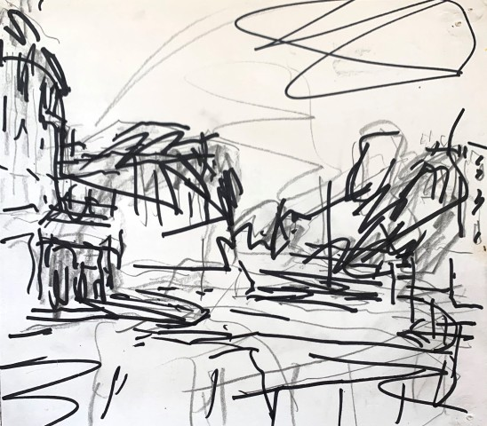 Frank Auerbach, Study for Looking Towards Everholt Street