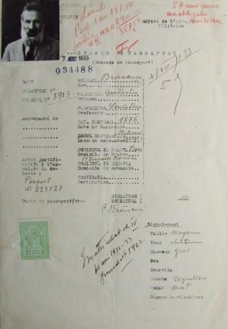 Constantin Brancusi  1876 - 1957  Self-portrait (Demande de Passeport), 1933