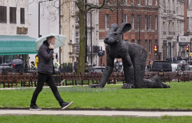 'Crawling' by Sophie Ryder at Berkeley Square