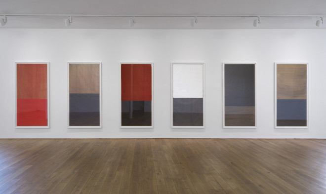 Installation view, Gallery I works from the 'Cento' series 2011-2012 oil on pape