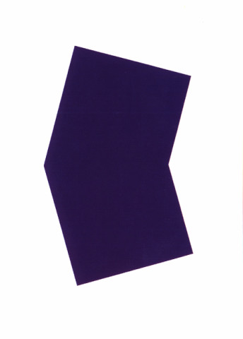 Purple 2001 colour lithograph, edition of 45 [published by Gemini Gel] 128.5 x 101cm [framed]