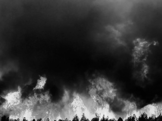 Wildfires are Tearing Through Colorado Springs Again 2015 temporary billboard installation 304.8 x 406.4 cm
