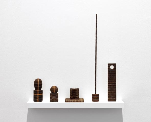 Group of five Roger Ackling works