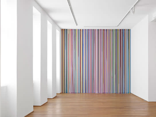 Ingleby Wall Painting (after Carpaccio) Ian Davenport 2011 acrylic paint on wall 363 x 398 cm