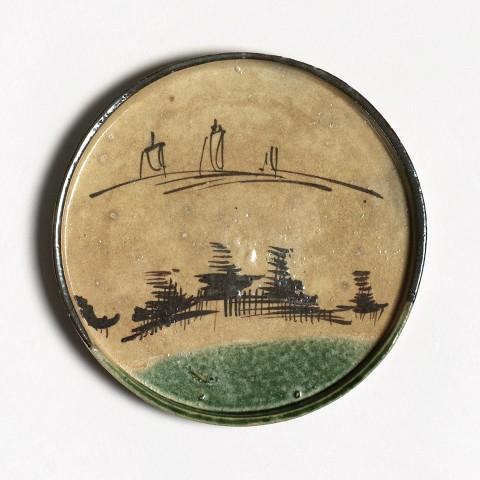 Keramik, #002504 Aburazara - Ölteller für Andon , mittlere Edo-Zeit (1615-1868)