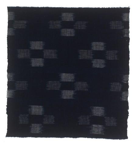 Textilien, #004164 Kasuri, Sich wiederholendes Kreuzmuster aus Streifenvierecken