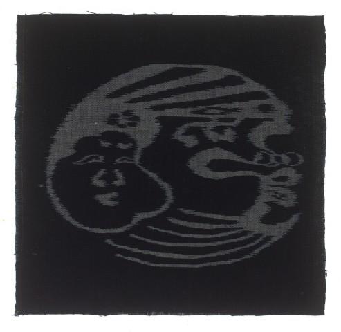 Textilien, #002343 Kasuri, Okame und Tengu
