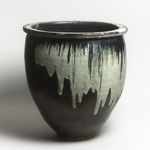 Keramik, #000486 Mizugame - Vorratstopf für Wasser, Hongo - Tsutsumi, ENDE EDO-ZEIT (1615-1867)