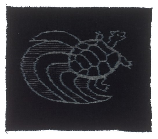 Textilien, #004252 Kasuri, Schildkröte mit Schwanz (minogame)