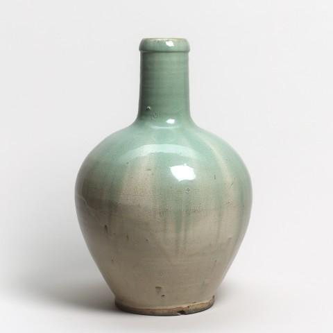 Keramik, #011926 Tokkuri - Sakeflasche, Shigaraki, 19. Jahrhundert
