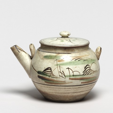 Keramik, #007191 Sansui dobin - Teekanne, Mashiko, Meiji (1868-1912), 20. Jh.