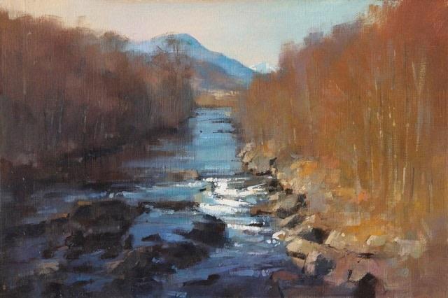 A Highland Stream  SOLD