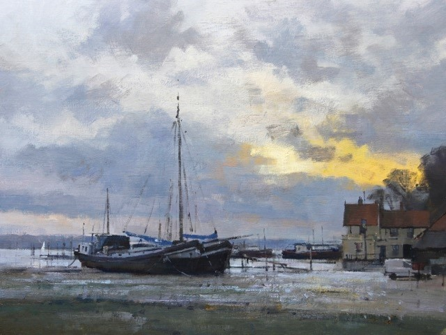 Low Tide at Pin Mill  SOLD