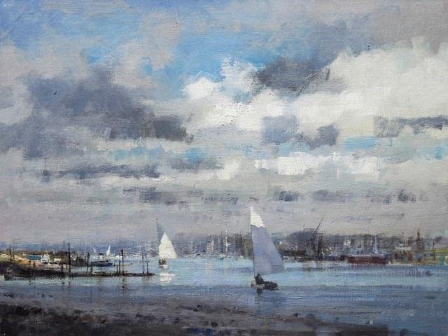 Sailing at Walberswick  SOLD