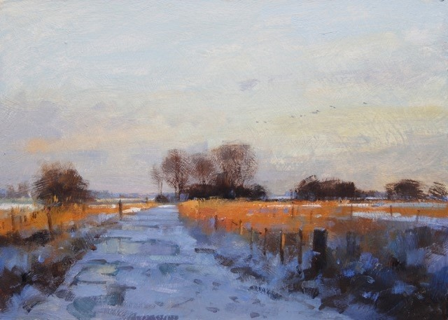 Snow on the Marshes  SOLD
