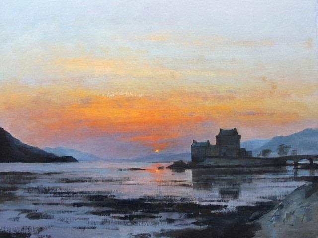 Sunset, Eilean Donan Castle  SOLD