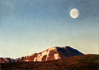 Moon over an Teallach  Fred Schley