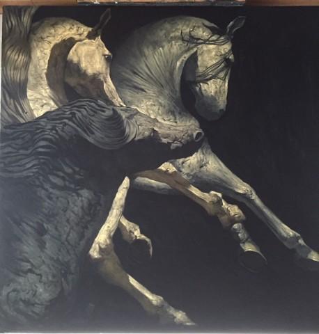 The Stallions (study)  Huw Williams