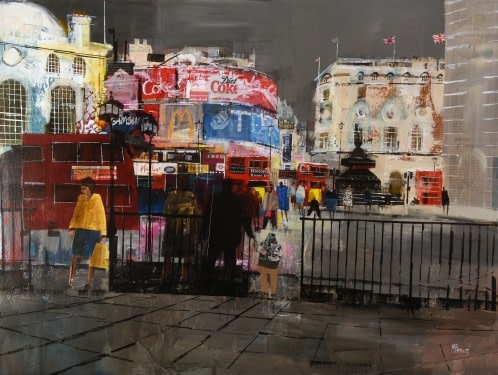 Piccadilly Circus, winter