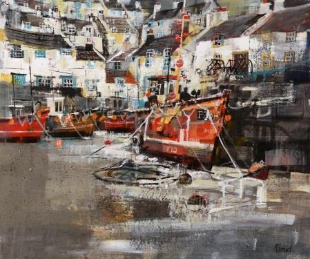 Tides out, Cornish harbour
