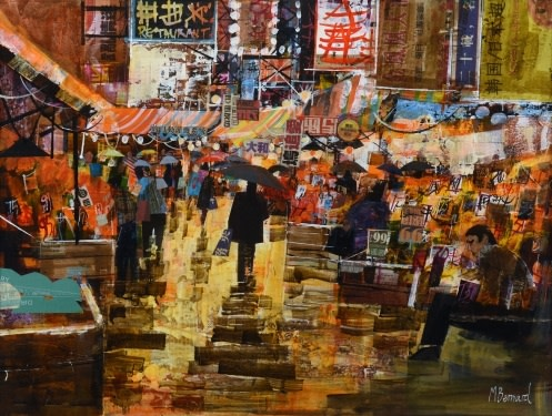 Rainy Hong Kong market  SOLD