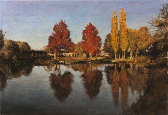 Autumn reflections  SOLD