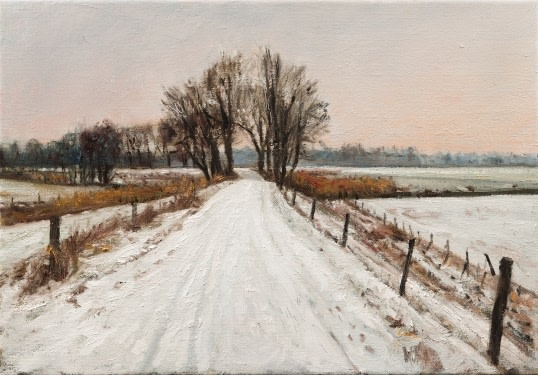 Snow on Zeedijk
