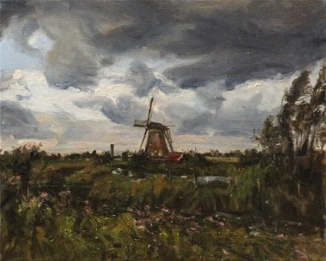 Storm brewing, Kinderdijk