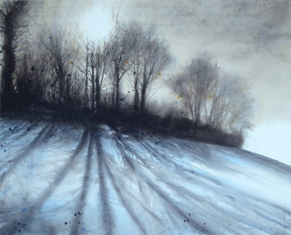 Gary Cook  Snow on the Burrows  SOLD