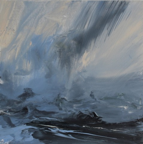 Janette Kerr  Evening Mist, Brindister Voe, Shetland  SOLD