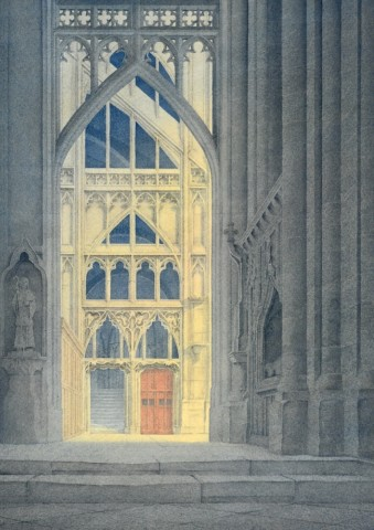 Towards the North Transept, Gloucester