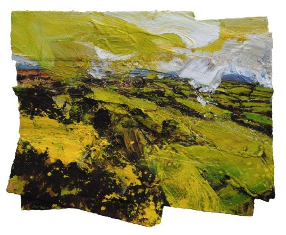 Dartmoor Edge. Gorse, Shilstone Tor  Mixed media, 38 x 47 cm/ 15 x 18½ ins