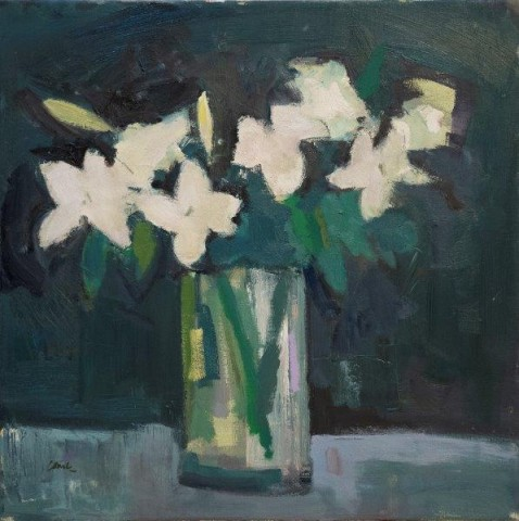 Michael G Clark PAI RSW  A Vase of White Lilies  SOLD