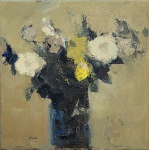 Michael G Clark PAI RSW  Arrangement of White Flowers  SOLD