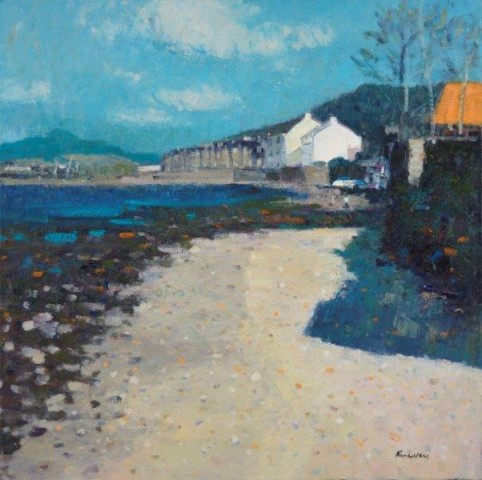 John Kingsley PAI RSW  Beach at Fairlie, Ayrshire