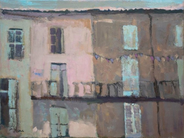 Michael G Clark PAI RSW  Early Morning, Bastille Day, South West France  SOLD