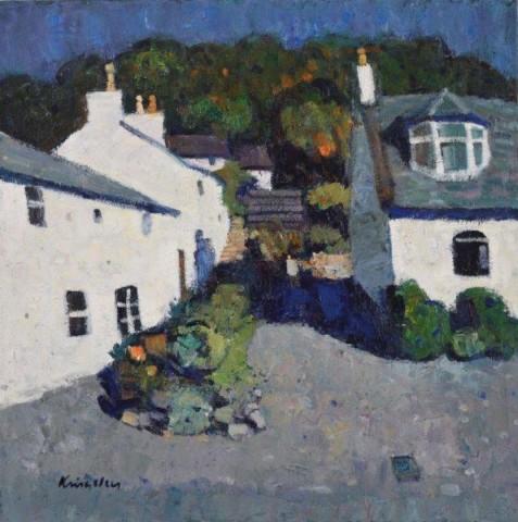John Kingsley PAI RSW  Fishermen's Cottages, Kippford  SOLD