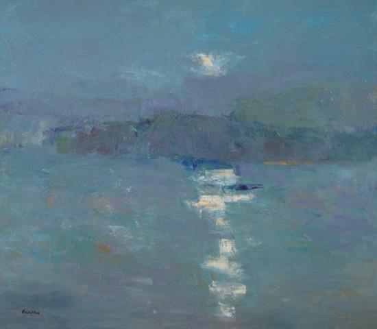 John Kingsley PAI RSW  Moonlit Loch, Sutherland