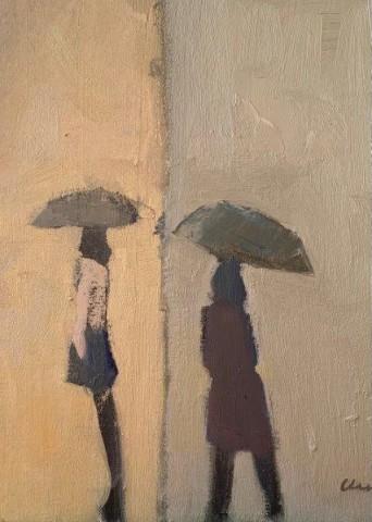 Michael G Clark PAI RSW  Rainy Day in the Marais  SOLD
