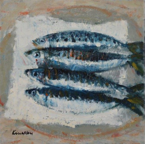 John Kingsley, PAI RSW  Sardines  SOLD