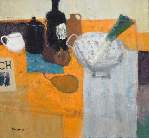 John Kingsley PAI RSW  Still Life with Colander  SOLD